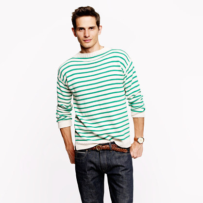 Wallace & Barnes mockneck stripe sweater