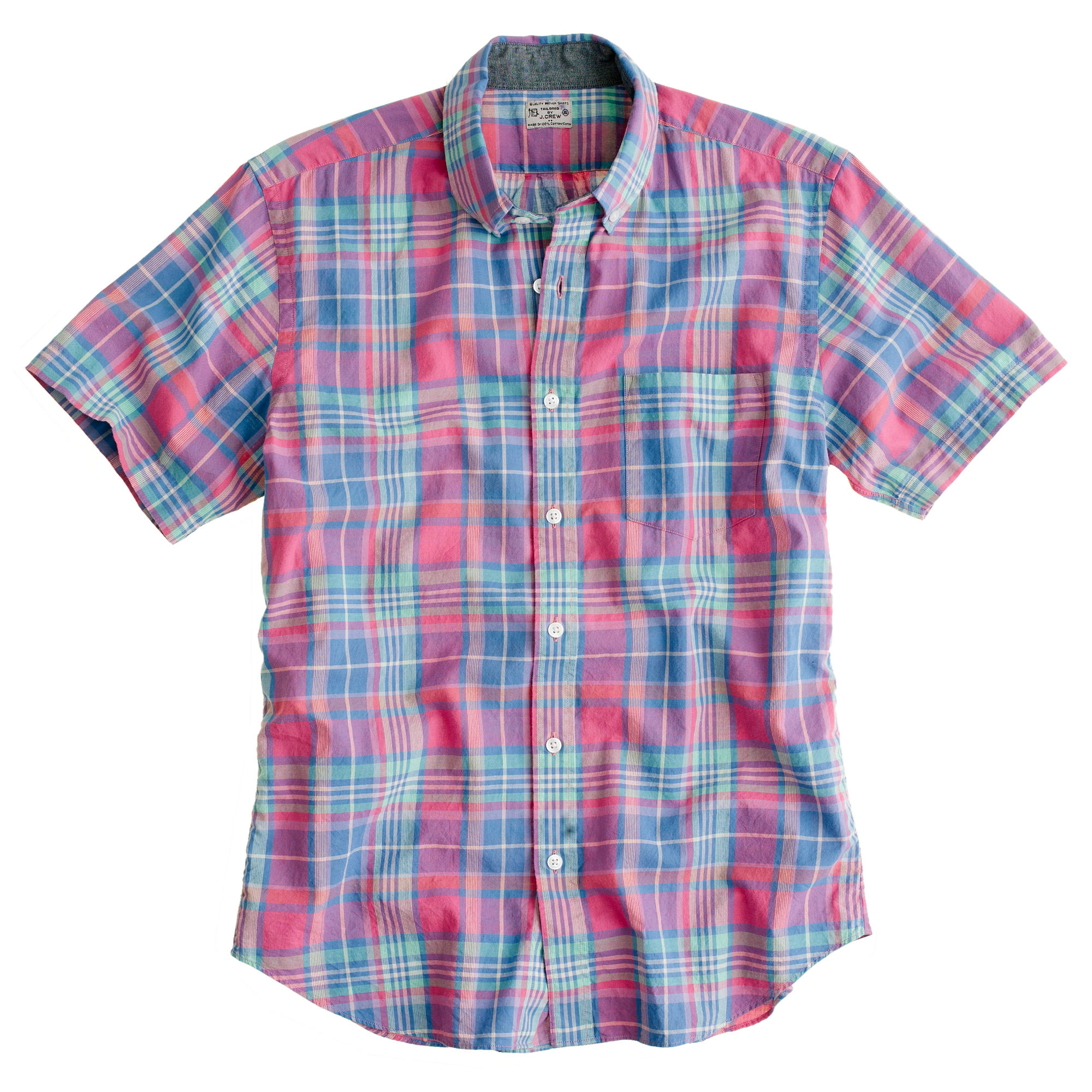 Indian cotton short sleeve shirt in bryn plaid j crew Short sleeve plaid shirts