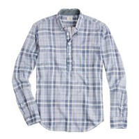 Indian cotton popover in violet plaid