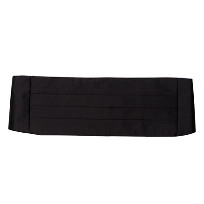 English satin cummerbund
