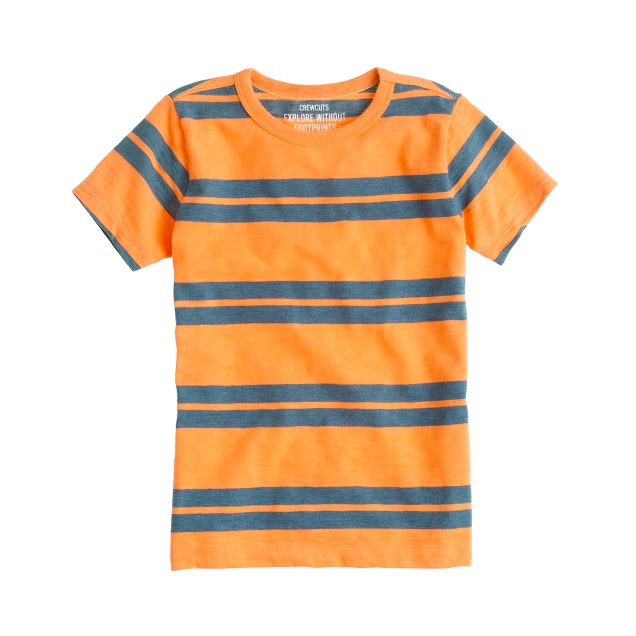 Boys' tee in double stripe