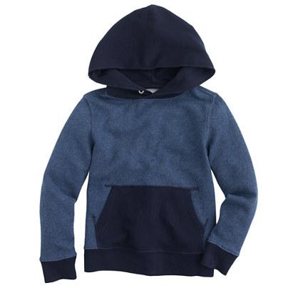 Boys' colorblock contrast hoodie