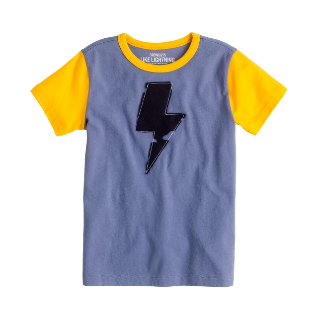 Boys' lightning bolt tee
