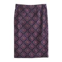 No. 2 pencil skirt in medallion paisley