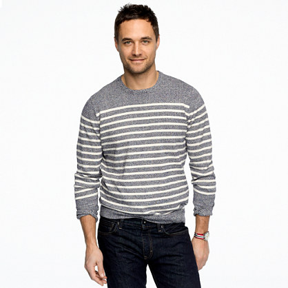 Marled stripe sweater