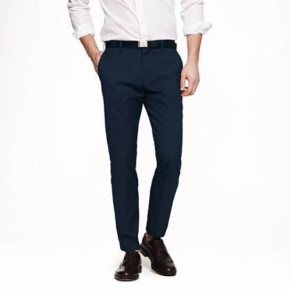 Ludlow slim suit pant in Italian cotton piqué