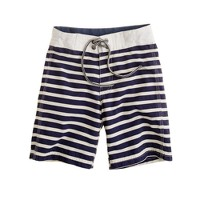 Boys' board short in nautical stripe
