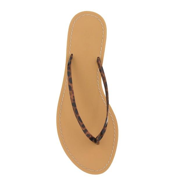 Tortoise capri sandals