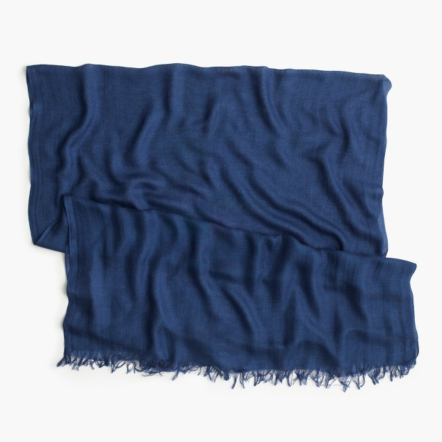Refined silk-cashmere wrap