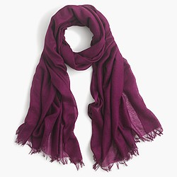 Refined silk-cashmere wrap