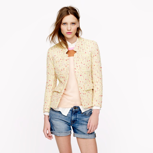 Collection neon tweed blazer