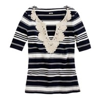 Rope necklace tunic tee
