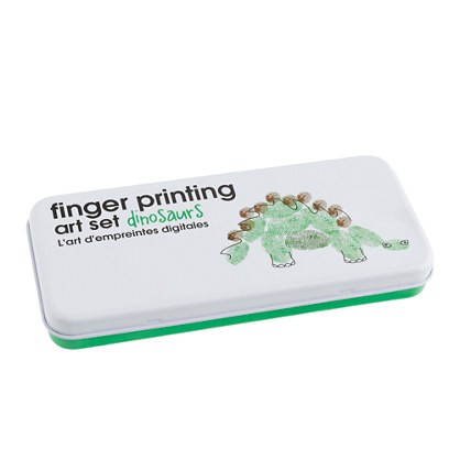 Finger printing art set dinosaurs