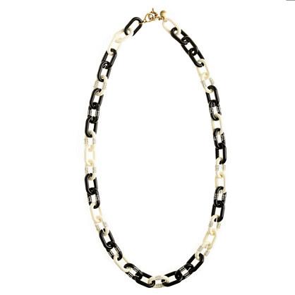 Crystal stripe-link necklace