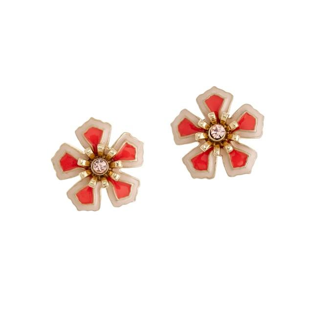 Flower patch earrings