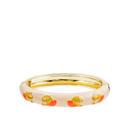 Enameled snail bangle