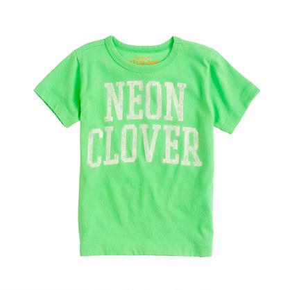 Boys' neon clover tee