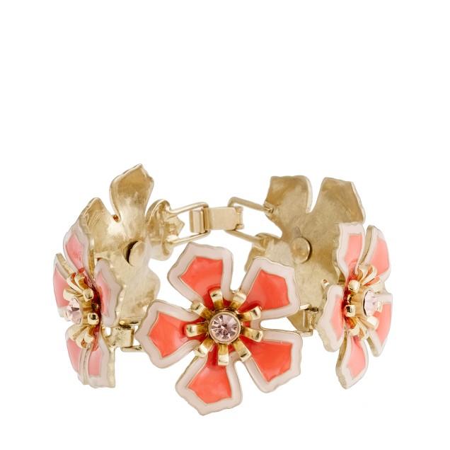 Flower patch bracelet