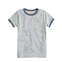 Boys' ringer tee in heathered jersey