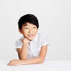 Kids' Secret Wash short-sleeve shirt in white poplin