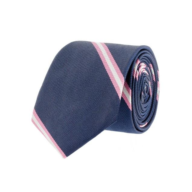 Vesper-stripe silk tie