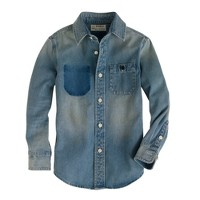 Boys' denim western shirt