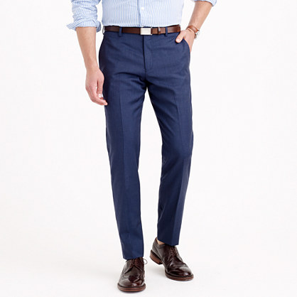 Ludlow suit pant in heathered Italian wool