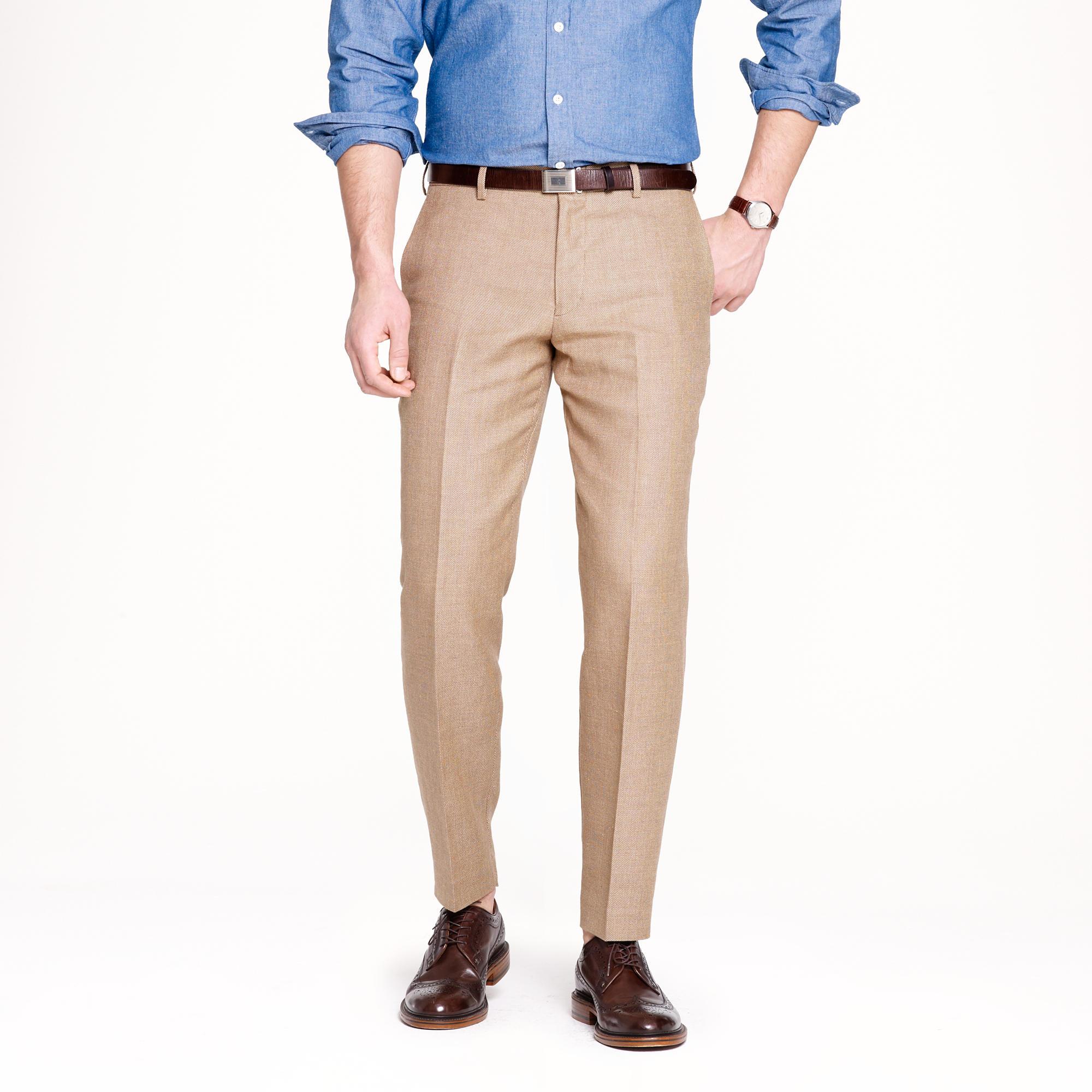 Ludlow slim suit pant in Italian linen-cotton : | J.Crew