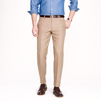 Ludlow slim suit pant in Italian linen-cotton