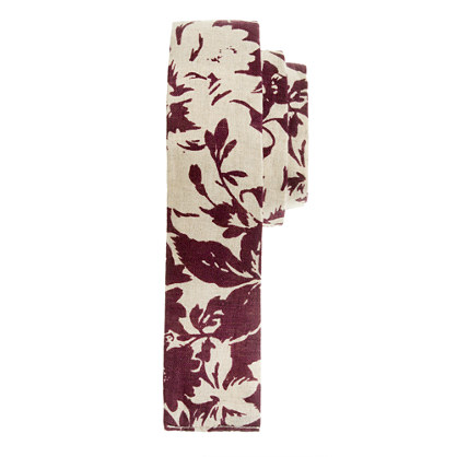 The Hill-side&reg; linen floral-print tie<BulletPoint></BulletPoint>