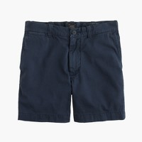 "7"" short in garment-dyed cotton"