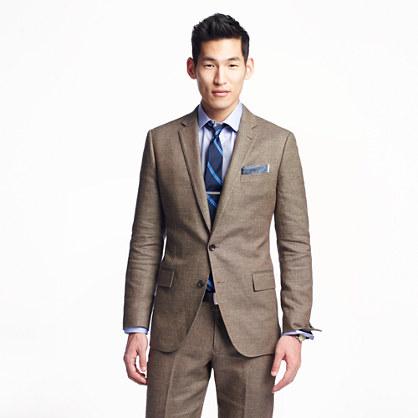 Ludlow suit jacket in Italian linen-cotton