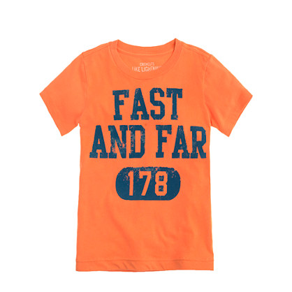 Boys' fast and far tee