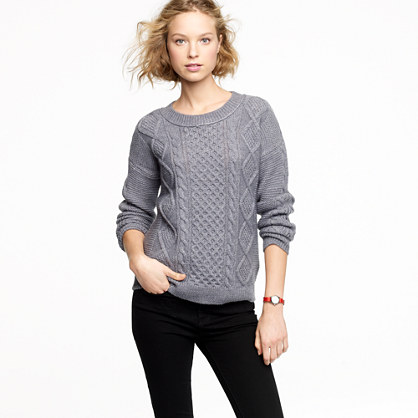 Cable-stitch sweater