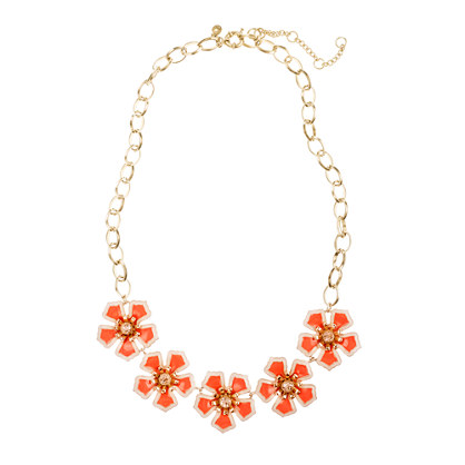 Flower patch necklace