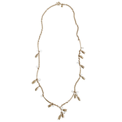 Flowering vine long necklace