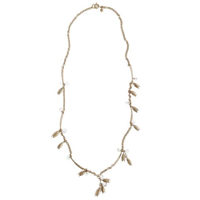 Flowering vine long necklace