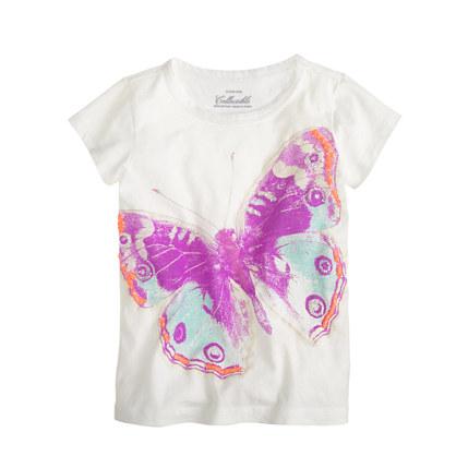 Girls' glow-in-the-dark butterfly tee