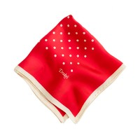 Drake's® Italian silk handkerchief in polka dot