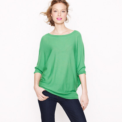 Featherweight cashmere dolman sweater