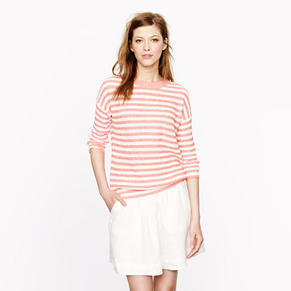 Heather-stripe sweater