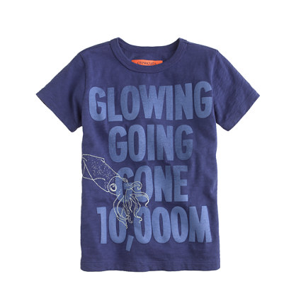 Boys' glow-in-the-dark squid tee
