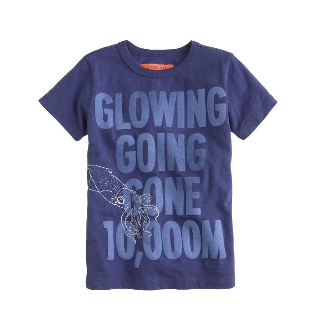 Boys' glow-in-the-dark squid tee