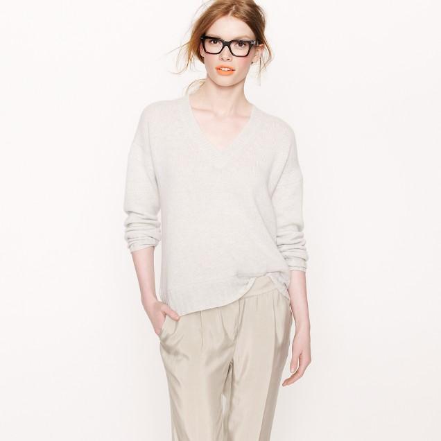 Chunky cashmere V-neck sweater