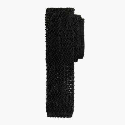 Italian silk knit tie