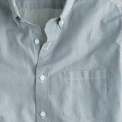 Slim Secret Wash shirt in banker stripe