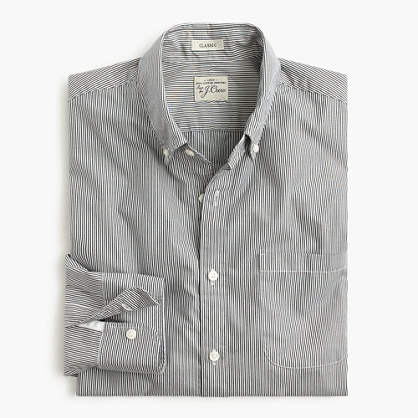 Slim Secret Wash shirt in banker stripe