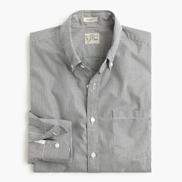 Secret Wash shirt in banker stripe
