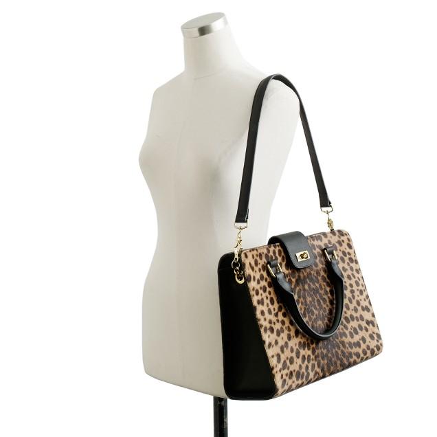 Edie attaché bag in Italian calf hair