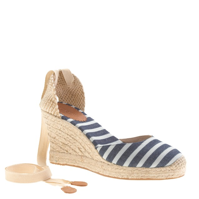 Sardinia wedge espadrilles in stripe